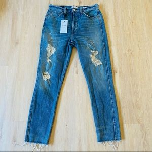 New Redone Originals High Waisted Jeans Size 28